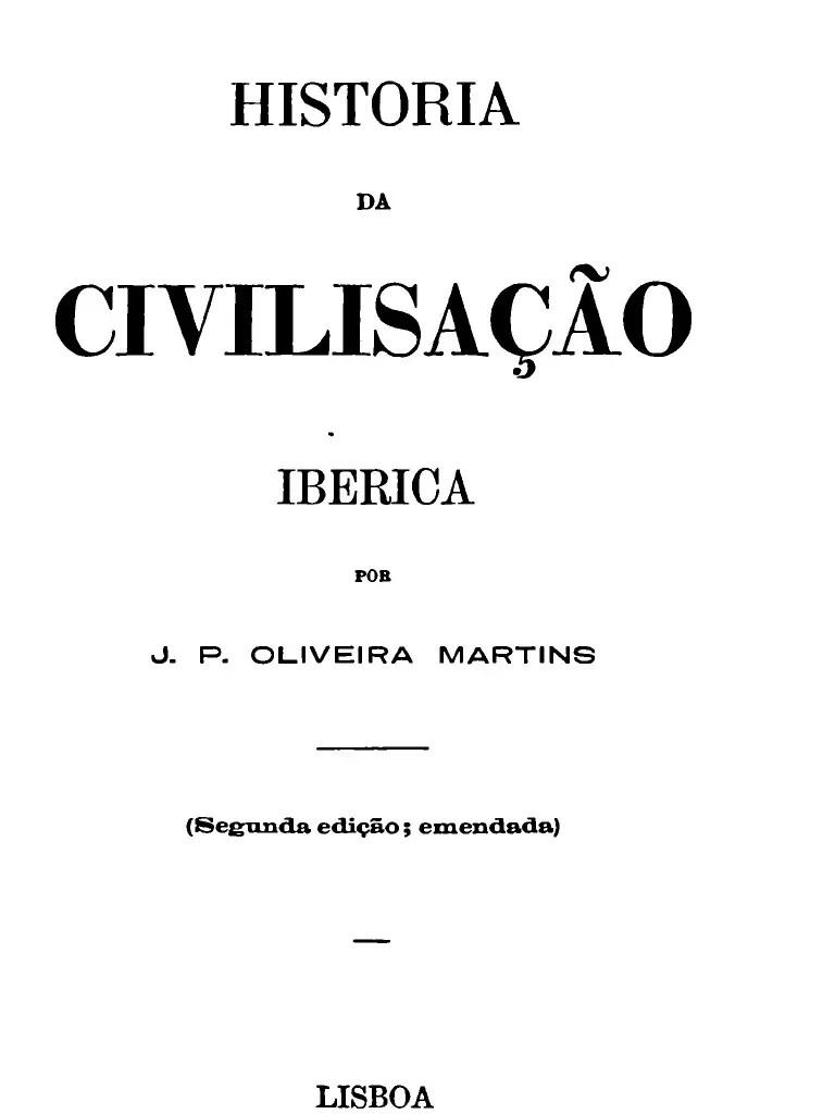 historia da civilização iberica de oliveira martins